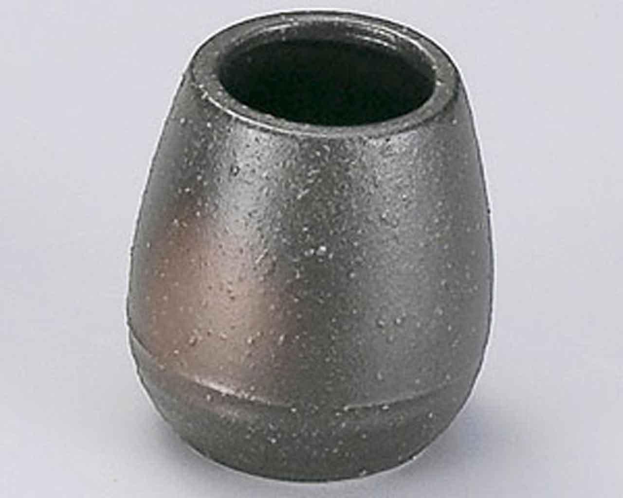 Bizen 1.8inch Set of 5 Toothpick holders Black porcelain Made in Japan