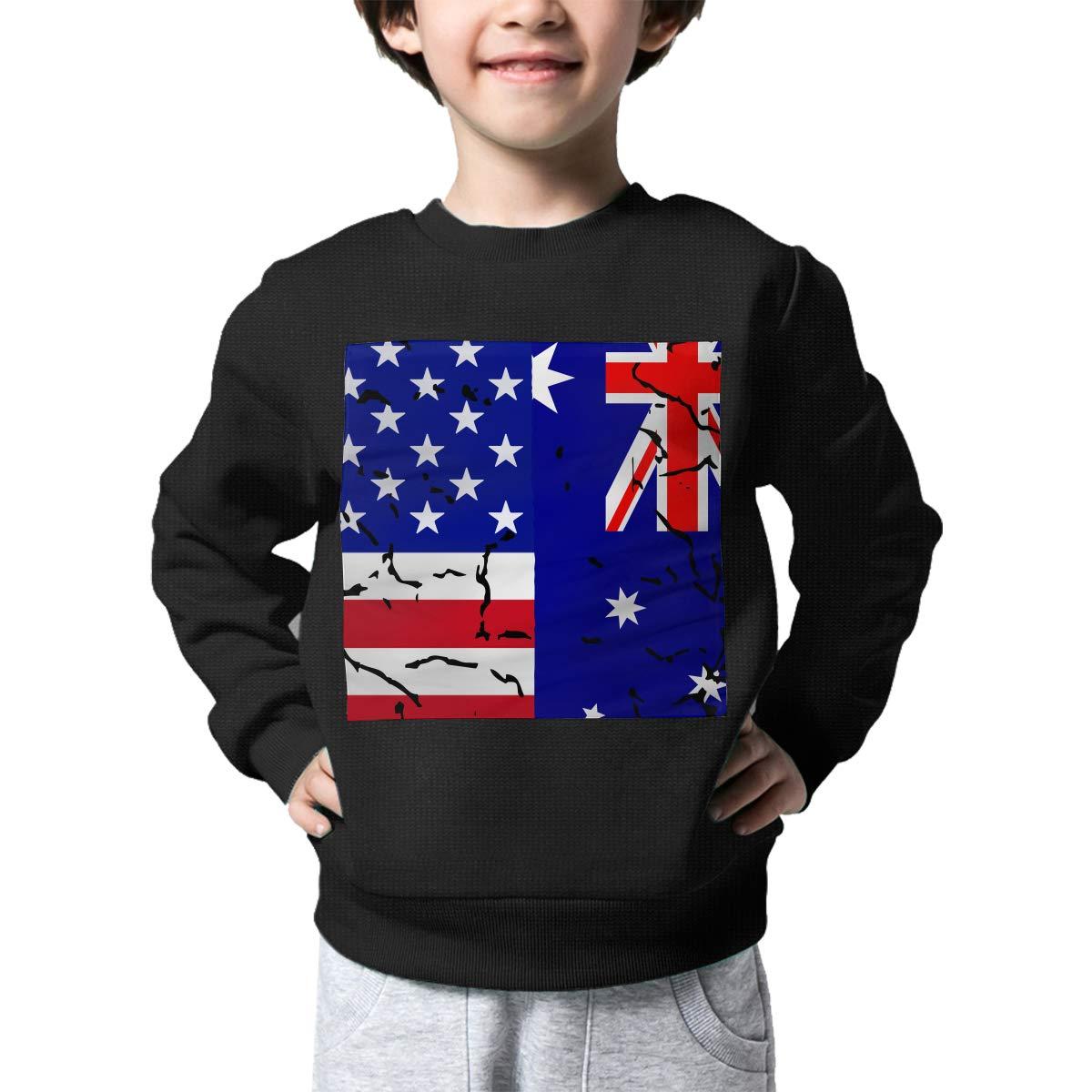 NJKM5MJ Boys Girls USA Australian Flag Lovely Sweaters Soft Warm Unisex Children Kids Sweater