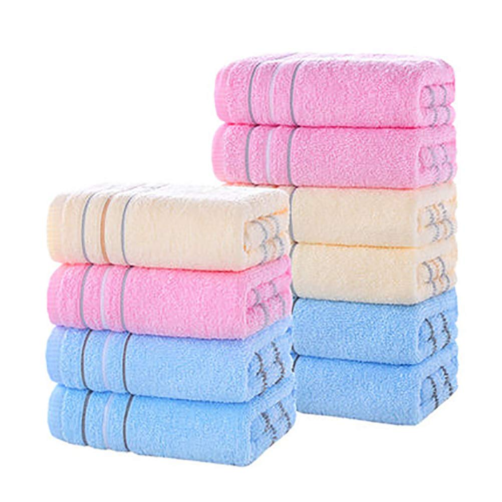 NIYOU Towels for Bathroom Eco-Friendly face Cloth (10 Pieces) Multipurpose Hand Towels, Ideal for The Home, Children, The Sport, The Gym, Machine Washable,D,33x72cm13x28inch