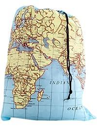 Travel-Size Laundry Bag, World Map