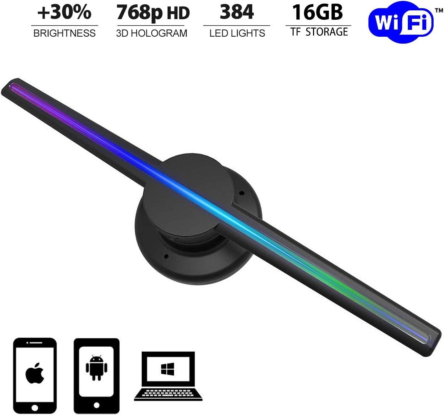 geeka-3D WiFi Holographic Projector Display Fan Hologram