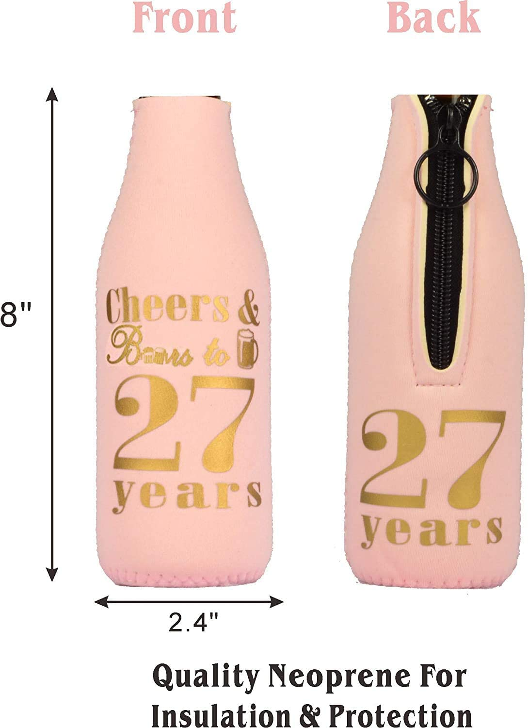 27th birthday Coozie 27th Birthday Party Supplies 27th Birthday Decorations for Women 27th Birthday Gifts for girl 27th Birthday Favors 27th Birthday Coozie Sleeve