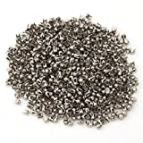 100 SILVER TINY ROUND 1/16'' (2.5mm) Metal Tack Studs (1079) Leather Craft BEAUTIFULLY SUITABLE FOR CLOTHES , FOOTWEAR , BAG