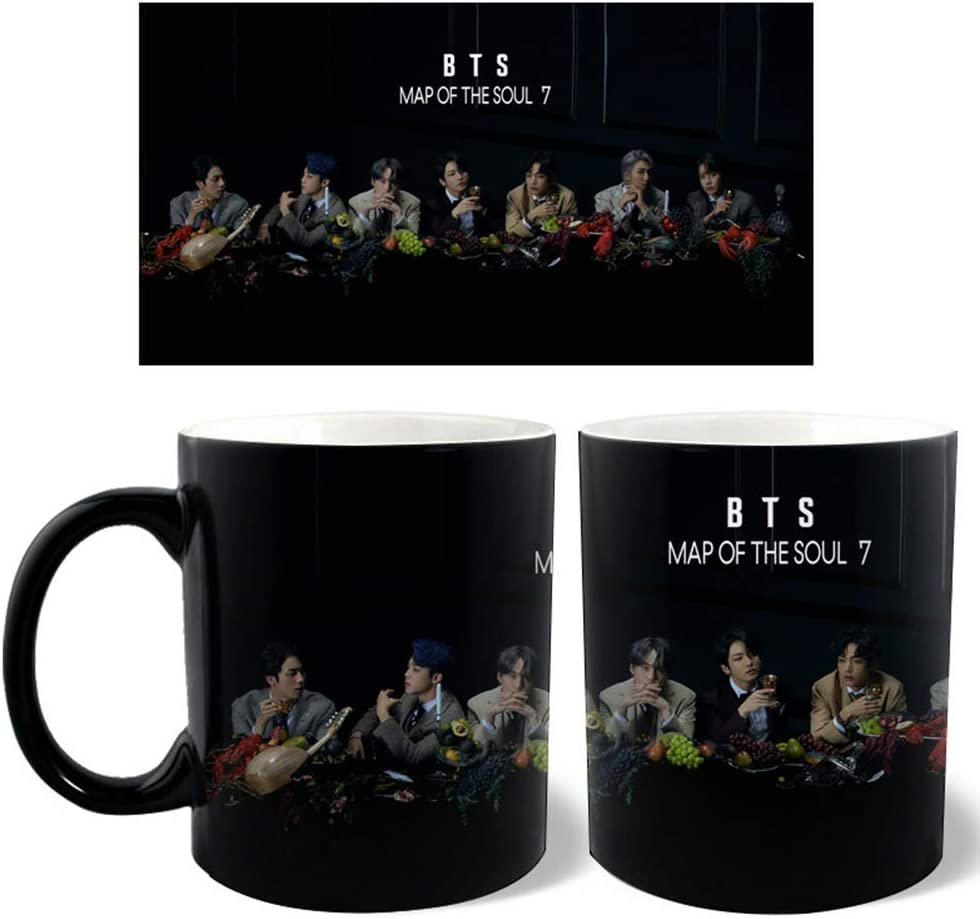 Ceramica ALTcompluser Kpop BTS Map of The Soul 7 Thermisch Reaktiv tazza da caff/è 300 ml Bangtan Boys