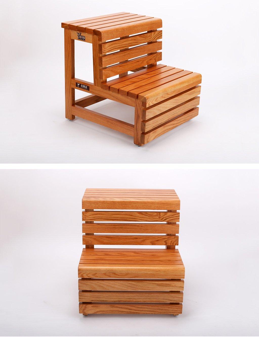 LAXF- Sillas Escalera Plegable Madera Niños de Madera Maciza Taburete de 2 Pasos para el baño Dormitorio Cocina Muebles de Sala de Estar: Amazon.es: Hogar
