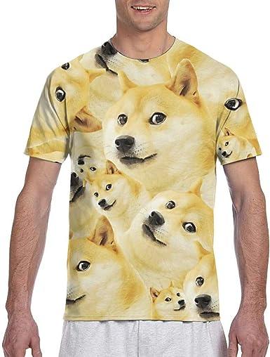 Animal World Doge Meme All Over - Camiseta para Adulto - Negro - Medium: Amazon.es: Ropa y accesorios