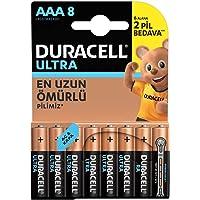 Duracell LR03/MX2400 Ultra Alkalin AAA Piller,8'lü paket