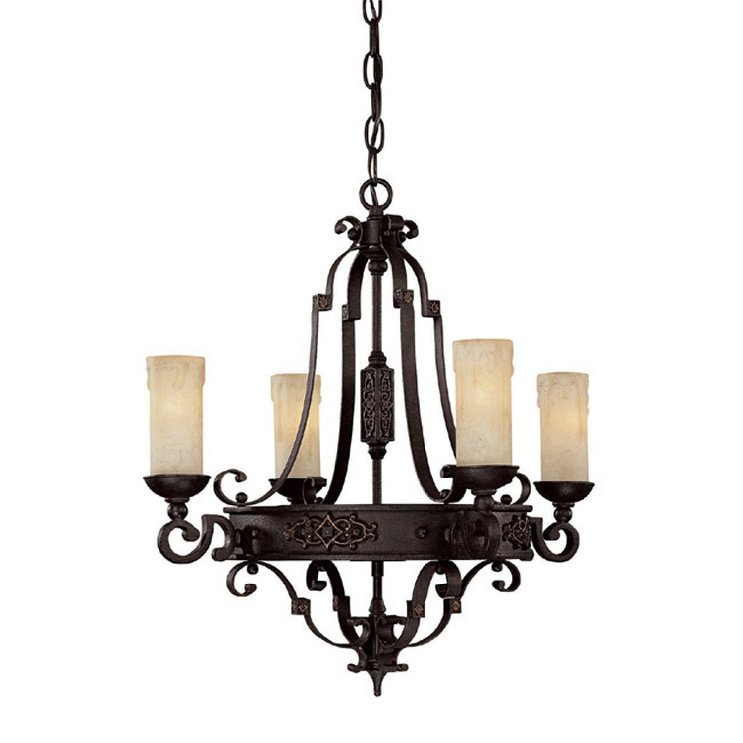 Amazon Capital Lighting 3604RI 279 Chandelier with Rust Scavo
