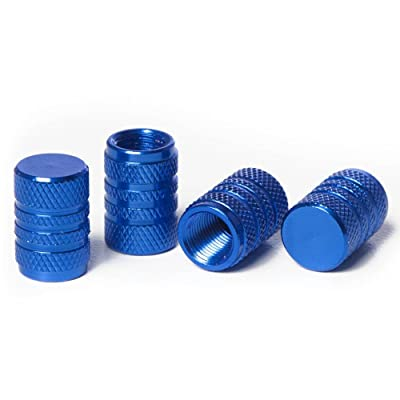 Circuit Performance VC1 Series Blue Aluminum Valve Stem Caps (Set of 4): Automotive