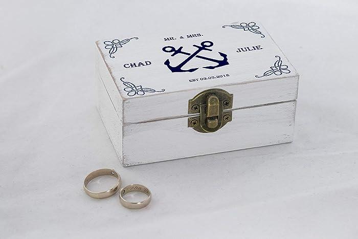 Amazon Com Sea Wedding Beach Wedding Ring Box Nautical Wedding