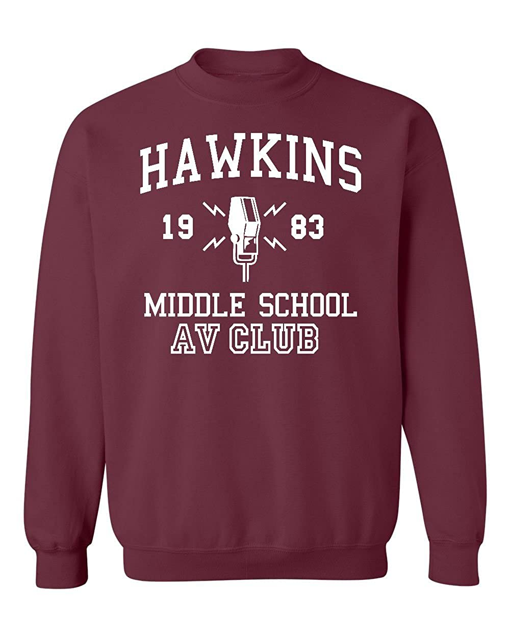 Promotion & Beyond Hawkins Middle School 1983 AV Club Vintage Crewneck Sweatshirt