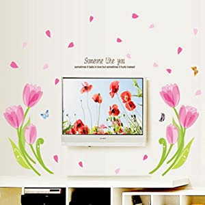 Flowers Wall Stickers Wall Decal Mural Home Decor