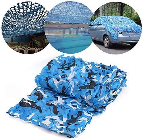 カモフラージュネット/迷彩ネット、青い海の遮光ネット、通気性と防塵性、テーマパーティー、プール