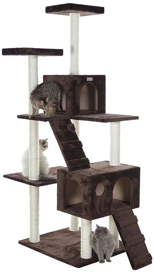 Gleepet GP78700 - Árbol con casa y escaleras para gatos grandes