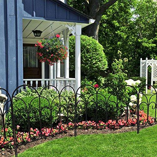amagabeli decorative garden fence coated metal outdoor import it all. Black Bedroom Furniture Sets. Home Design Ideas