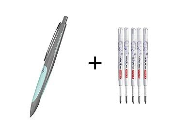 Herlitz Gel Kugelschreiber my.pen Farbe 5 Ersatzminen weiß//pink