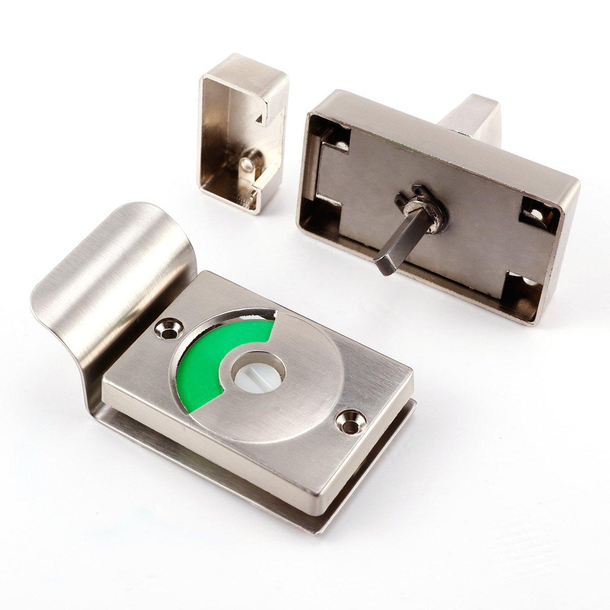 CLE DE TOUS - Cerrojo para puerta bañ o con indicador Cerradura para puerta bañ o Surepromise