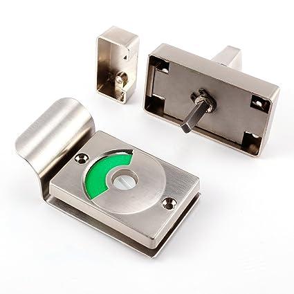 CLE DE TOUS - Cerrojo para puerta baño con indicador Cerradura para puerta baño