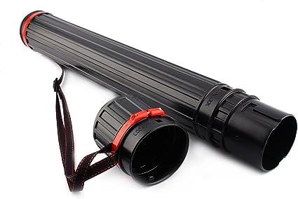 Extendable Telescopic Archery Arrow Back Shoulder Quiver Holder Tube w Strap