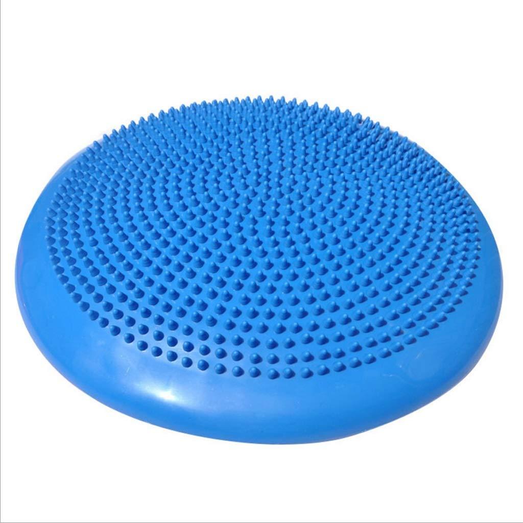 TangMengYun Barbed Massage Fitness Balance Mat Yoga Pilates Chair PVC Massage Inflatable Cushion (Color : Blue)