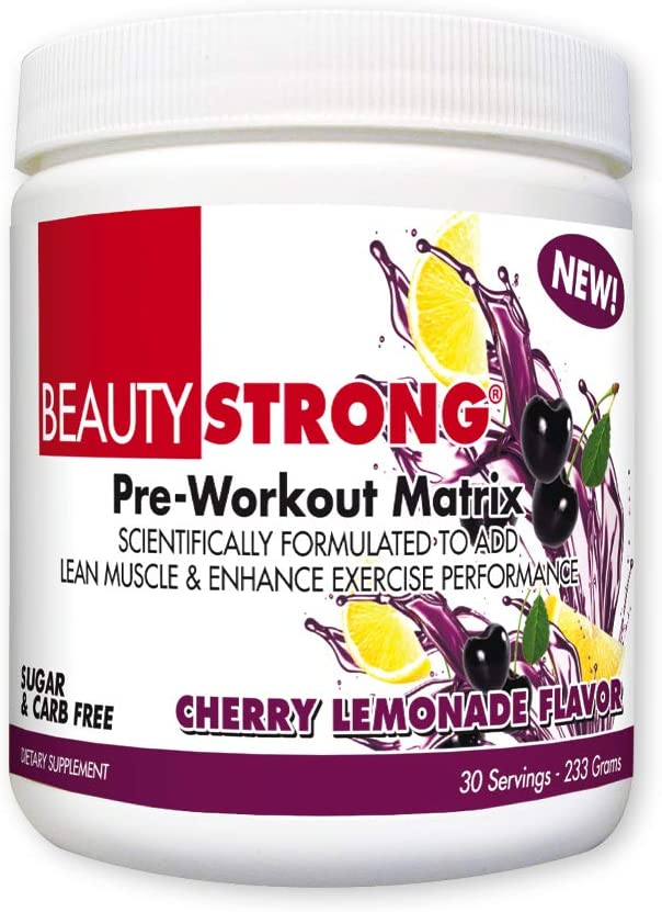BeautyFit BeautyStrong, Pre-Workout Matrix for Women Cherry Lemonade, 30 Servings