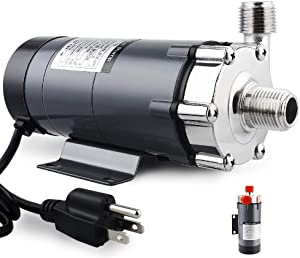 FERRODAY New Magnetic Drive Pump Wort Pump Food Safety High Temperature Stainless Head Magnetic Pump 15RM with 1/2