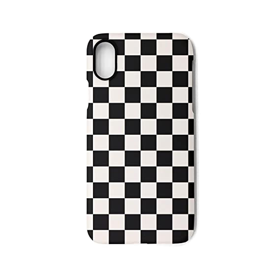 new arrival a9091 8823b YUEch iPhone X Case iPhone 10 Case black checkered squares TPU  Shock-Absorption & Skid-proof Anti-Scratch Phone Case Cover for Apple  iPhone X