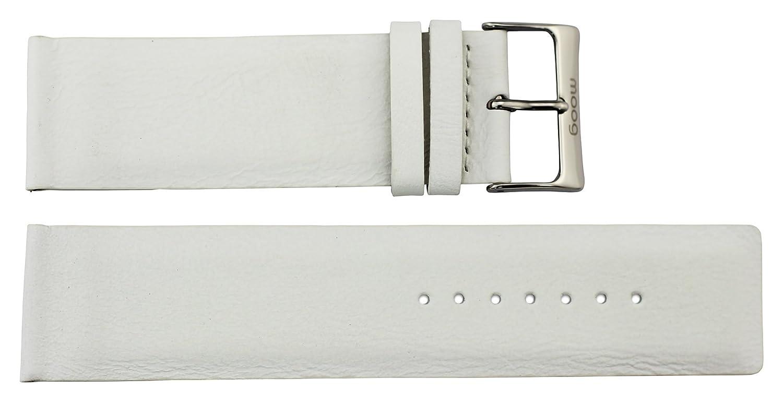 MoogパリホワイトCalfレザーバンド交換用、ピン留め金、24 mmストラップ_ b24001  B06W9FXRBN