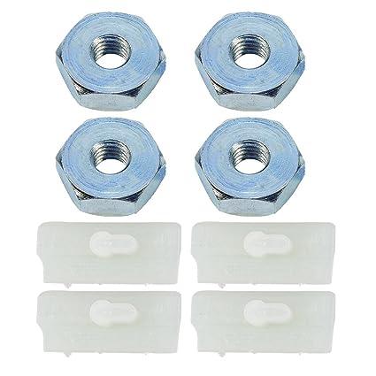 HIPA (Pack of 4) Sprocket Cover Bar Nut + Bumper Strip for STIHL MS290  MS310 MS390 MS240 MS260 MS270 MS280 MS360 MS440 MS460 MS640 MS650 MS660