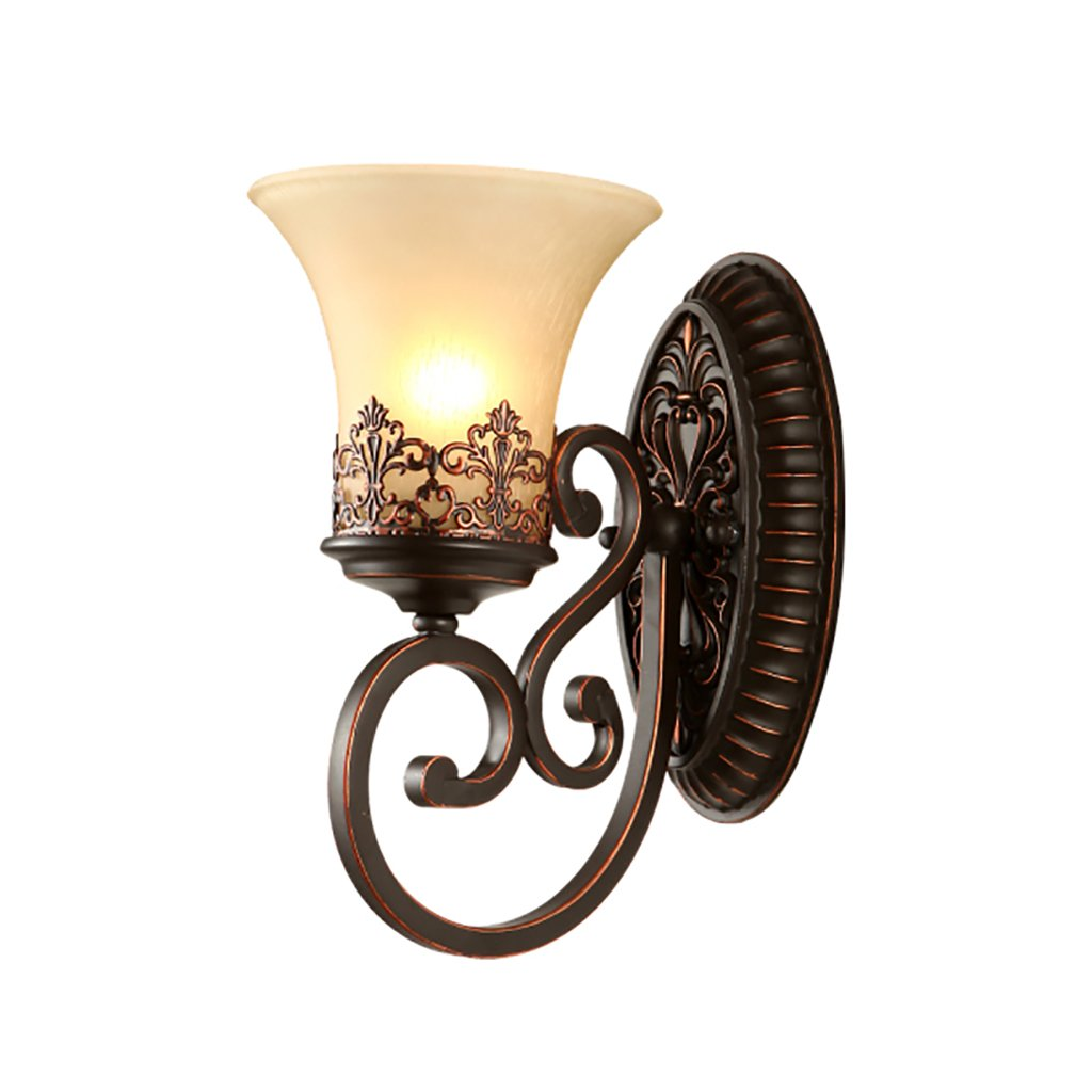 Retro Luxury Wall Lamp Bedroom Bedside Lamp Living Room TV Wall Decoration Wall Lamp Stairway Aisle Lights Home Decoration