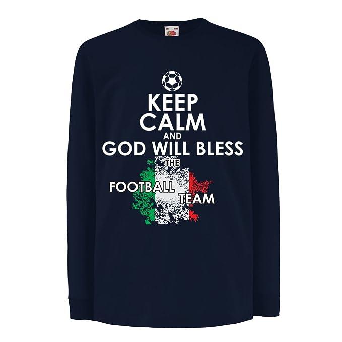 lepni.me Niños/Niñas Camiseta Equipo del fútbol Nacional de Italia - Campeonato de
