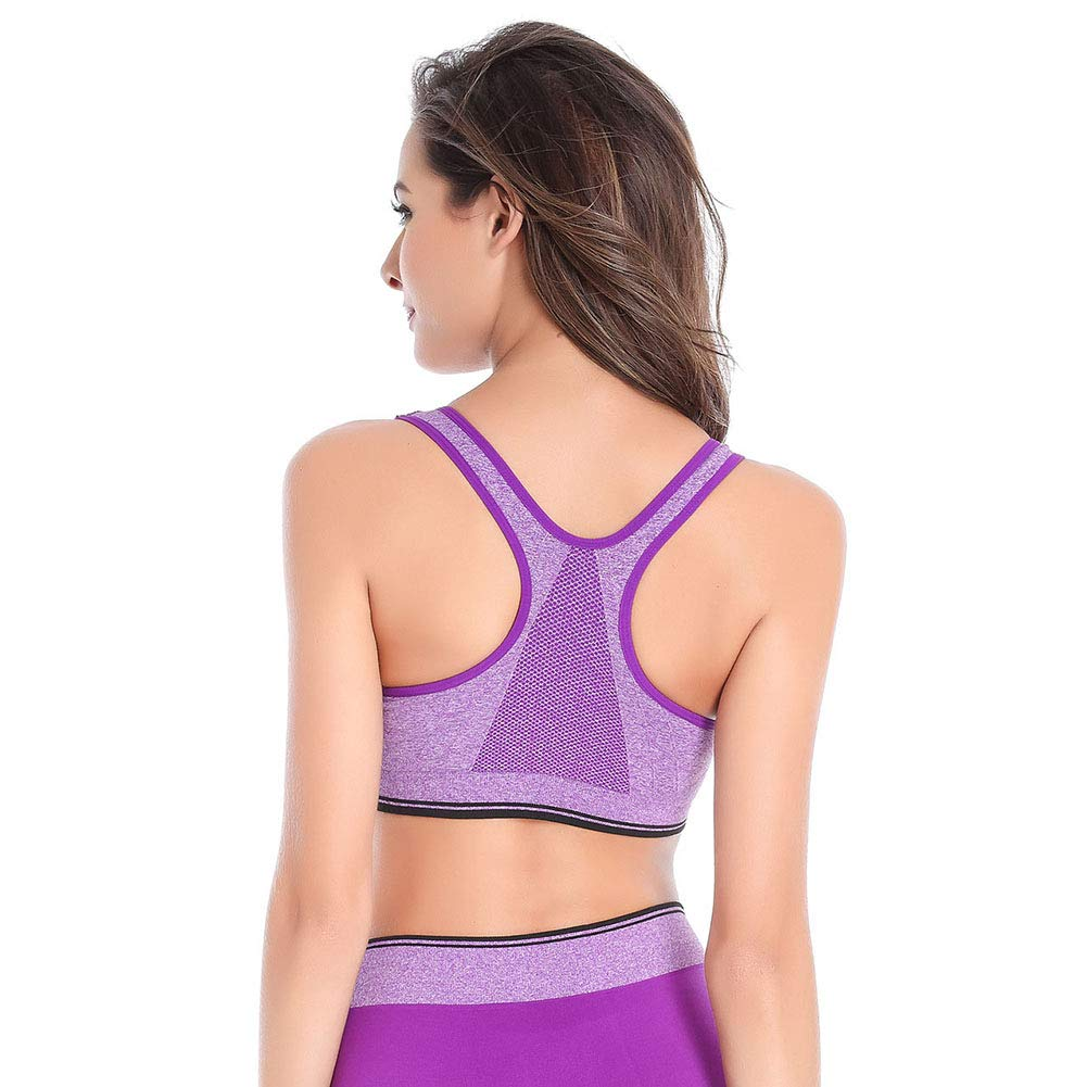 556cd5bdf2 B.BANG Women s Push up Yoga Bra Crop Top Fitness Underwear Sport Bra at  Amazon Women s Clothing store