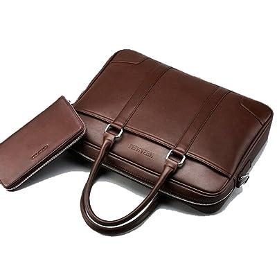 Joyloading Luxury Leather Briefcase Causal Design