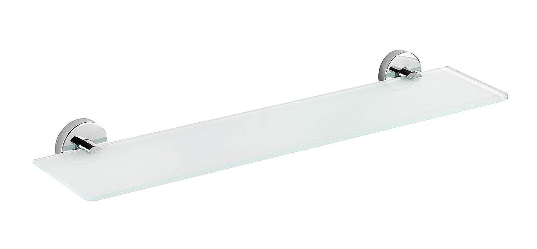 WENKO 22318100 Vacuum-Loc Wandablage Capri 60 x 6 x 14.5 cm Zinkdruckguss Chrom Befestigen ohne bohren