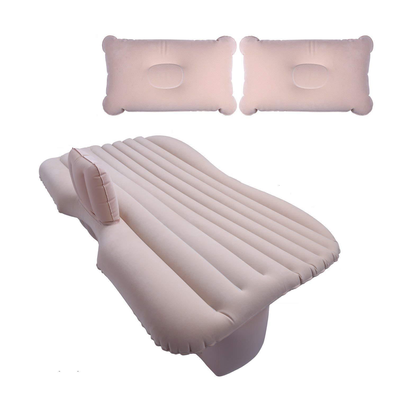 Auto-Matratze Aufblasbare Travel Air Bed Kissen Camping Mit 2 Kissen Beige