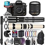 Holiday Saving Bundle for D810 DSLR Camera + 18-140mm VR Lens + 650-1300mm Telephoto Lens + 500mm Telephoto Lens + 6PC Graduated Color Filer Set + 2yr Extended Warranty - International Version