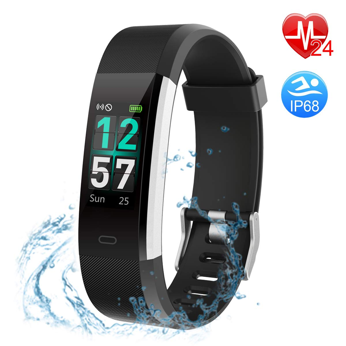 Cyfie Fitness Tracker, Activity Tracker Watch with Heart Rate Color Monitor IP68 Blood Pressure Sleep Monitor Sports Tracking for Kids Women Men