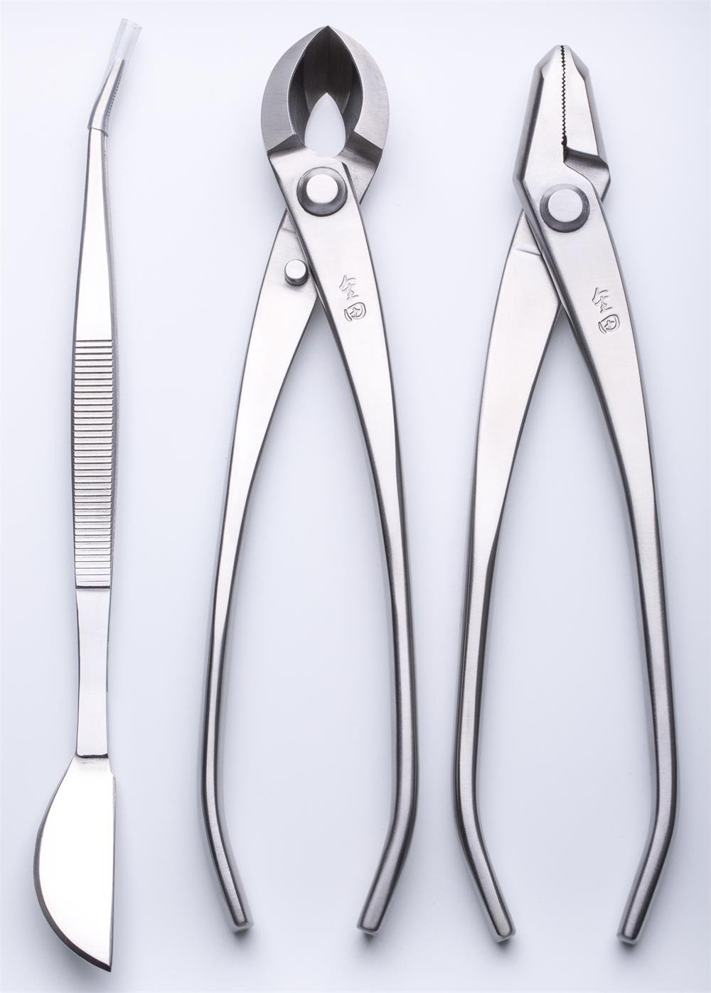 3 PCS Bonsai tool Set JTTK-20 Jin Pliers / Round Edge Cutter / Bonsai Tweezers Master Grade Bonsai Tools Excellent Quailty
