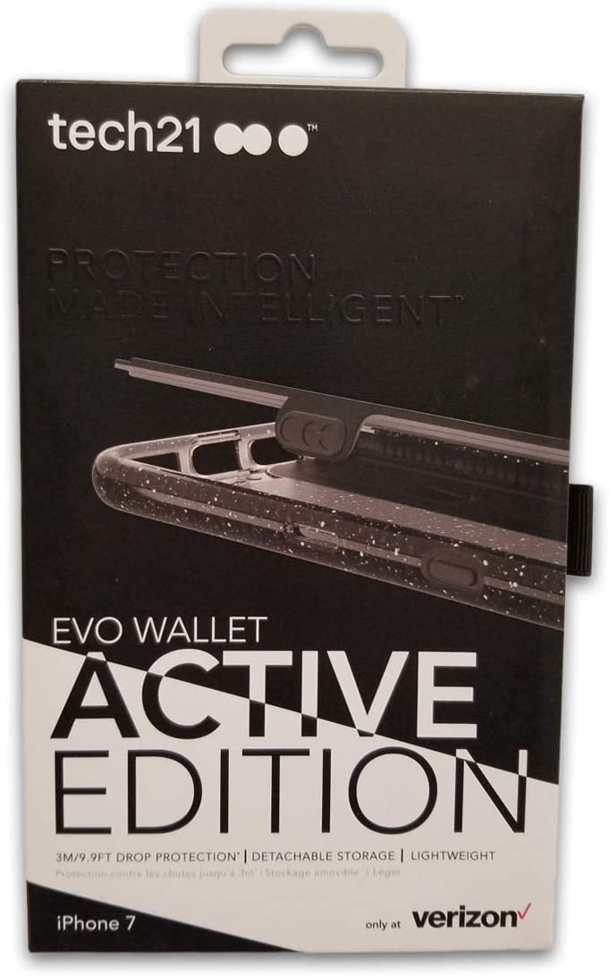 Tech21 Evo Active Edition Wallet Case for iPhone 8/7 - Smokey/Black