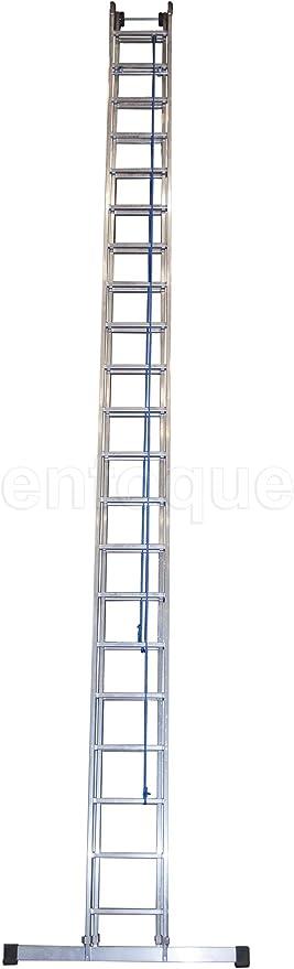 Escalera industrial de aluminio apoyo doble extensión mecánica 2 x ...