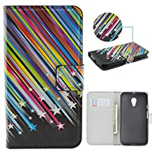 Moto G Case,IVY [Meteor Shower] Moto G PU Leather Phone Wallet Case with Kickstand For Motorola Moto G (1st Generation) Phone