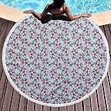 Round Beach Throw Towel Cherry Blossom Large Pool