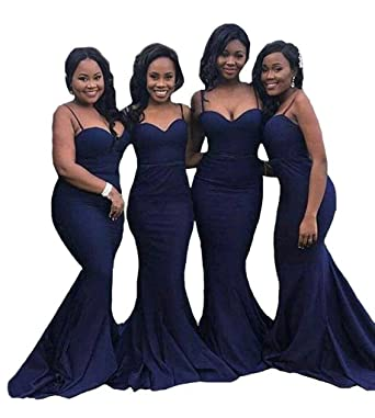 Inmagicdress Mermaid Long Bridesmaid Dresses For Weddings Navy Blue