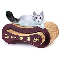 URPRO 2-in-1 Ultimate Cat Scratching Post, Cat Scratcher, Cat Lounge, Cat Sofa, Corrugated Cardboard