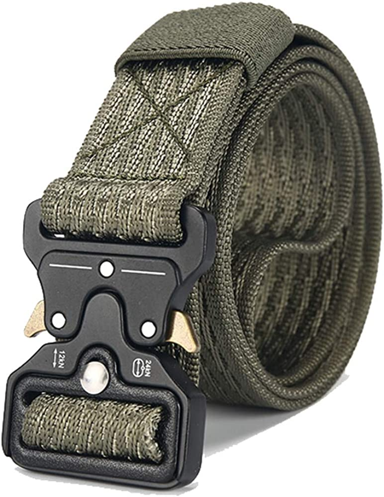 ZFADDS Belt Male Tactical Military Canvas Belt Outdoor Tactical Belt MenS Military Nylon Belts