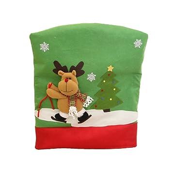 Weihnachtsdeko Stuhl.Magideal 50 X 60cm Weihnachtsstuhl Stuhlhussen Weihnachtsdeko Stuhl