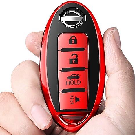 Amazon.com: Intermerge - Carcasa para llave de Nissan (TPU ...