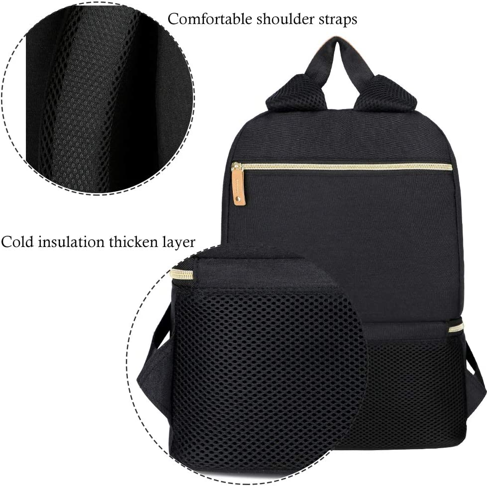Breast Pump Bag Backpack Cooler and Moistureproof Bag Double Layer for Mother Baby Bottle Breast Milk Pump Breastfeeding Outdoor Working Backpack Fit Most Size Breast Pump Large