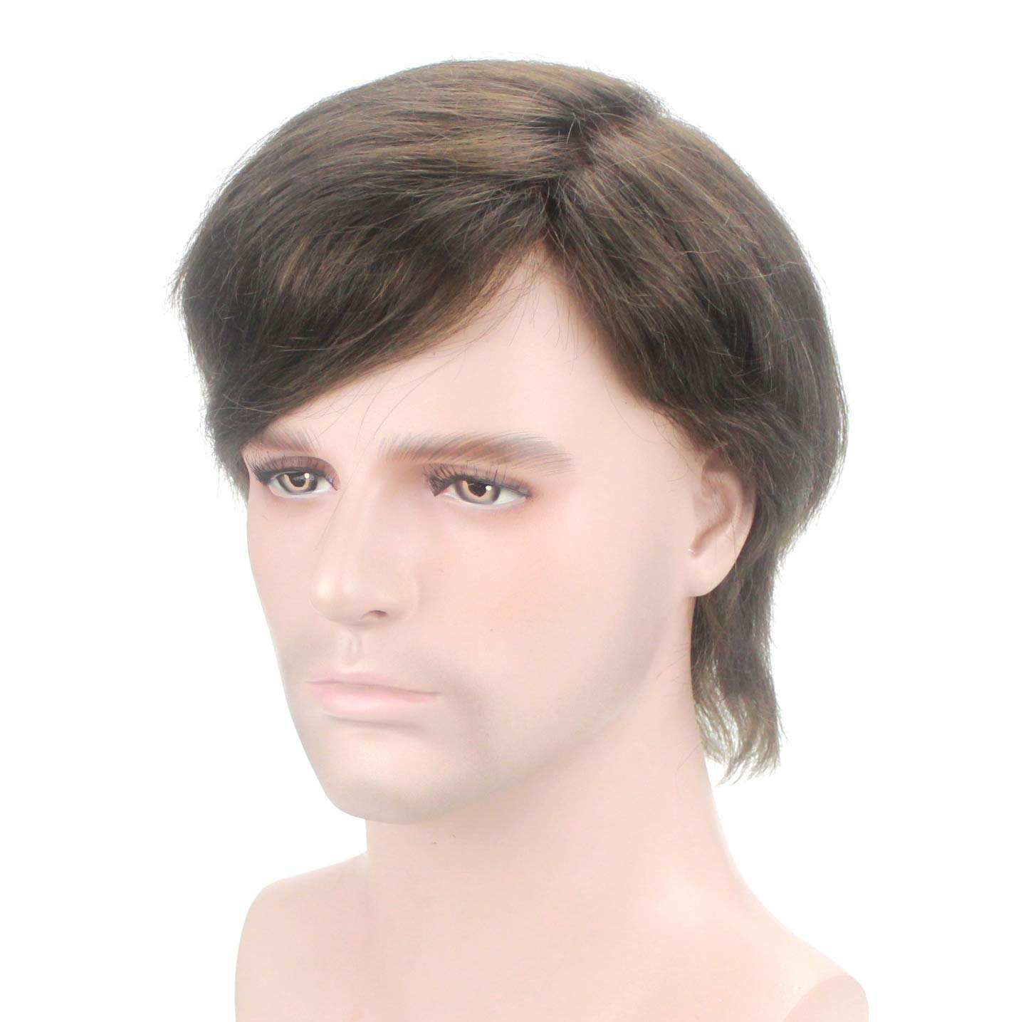 Lordhair 100% Cabello Humano Francés Encaje de Hombres Tupé Color # 3: Amazon.es: Belleza