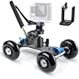 Selens Track Skater Dolly Kit Includes: Camera Dolly Table Top Slider, Mini Ball Head, Gopro Mount, Cellphone holder and Handheld Monopod Pole Selfie Stick for DSLR, Video and Camcorder